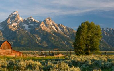 Daybreak at the Tetons--Pano
